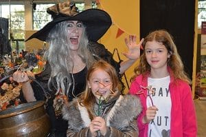 Halloween witch at Countryside Live